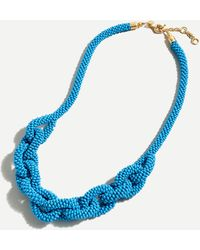 J.Crew Beaded Chain Link Rope Necklace - Blue