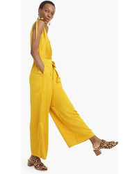 f23a33b26bc J.Crew - Collection Wide-leg Jumpsuit In Satin-crepe - Lyst