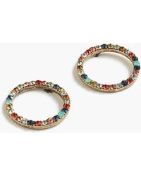 J.Crew - Pave Circle Earrings - Lyst