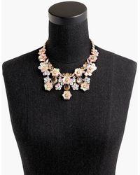 J.Crew - Flower Blossom Statement Necklace - Lyst