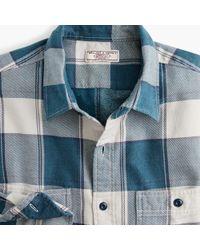 J.Crew - Slim Wallace & Barnes Midweight Flannel Shirt In Bold Stripe Plaid - Lyst