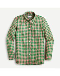 J.Crew - Petite Classic-fit Shirt In Crinkle Gingham - Lyst