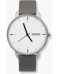 J.Crew - Tinker 42mm Silver-toned Watch With Grey Strap - Lyst