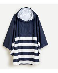 J.Crew Packable Rain Poncho - Blue