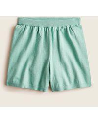 J.Crew High-waisted Cotton-cashmere Sweater Short - Green