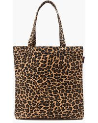 J.Crew Reusable Everyday Canvas Tote In Leopard - Brown