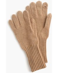 J.Crew Texting Gloves In Everyday Cashmere - Natural