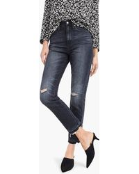 J.Crew - Petite Point Sur High-rise Retro Straight Jean In Charcoal Wash - Lyst