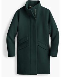J.Crew Petite Cocoon Coat In Italian Stadium-cloth Wool - Green