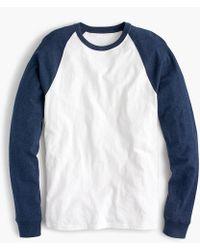 J.Crew - Slub Jersey Baseball T-shirt - Lyst