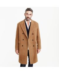 J.Crew - Double-breasted Topcoat In Camel Hair - Lyst