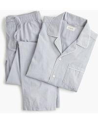 J.Crew Pajama Set In Cotton Poplin - Gray