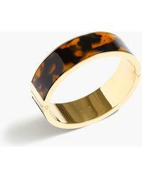J.Crew - Tortoise Clamp Bracelet - Lyst