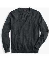 J.Crew Merino Wool V-neck Sweater - Gray