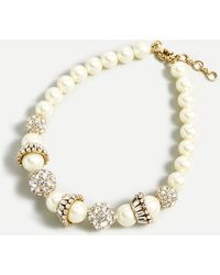 J.Crew Crystal And Pearl Choker Necklace - Multicolor