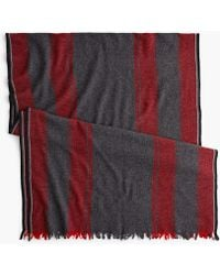J.Crew - Wool-blend Scarf In Heather Charcoal - Lyst