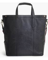 J.Crew - Oar Stripe Leather Tote Bag - Lyst