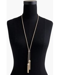 J.Crew - Tassel Chain Necklace - Lyst
