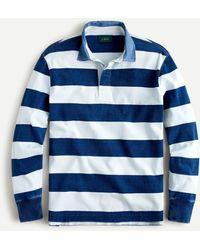 J.Crew 1984 Rugby Shirt In Indigo Stripe - Blue