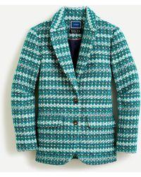 J.Crew Collection Boyfriend Blazer In Italian Jacquard Wool - Green