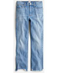 """J.Crew 9"""" Demi-boot Crop Jean In Scuttle Wash - Blue"""