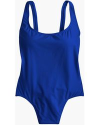 J.Crew Plunging Scoopback One-piece Swimsuit - Blue