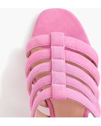 J.Crew - Strappy Penny Slide Sandals In Suede - Lyst