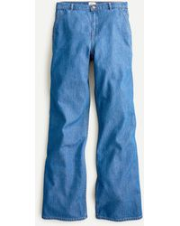 J.Crew High-rise Drapey Trouser Jean - Blue