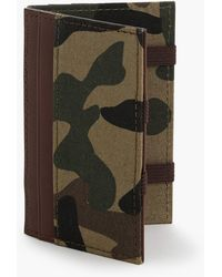 J.Crew Magic Wallet With Camo Lining - Green