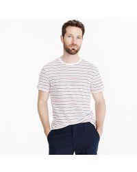 J.Crew - Tall Mercantile Broken-in T-shirt In Seaside Stripe - Lyst