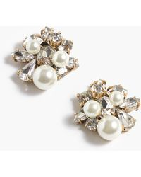 J.Crew Pearl And Crystal Earrings - Natural