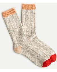 J.Crew Plush Trouser Socks With Pop-color Details - Natural