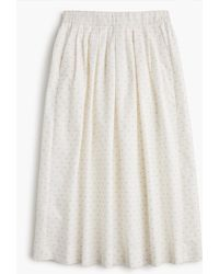 J.Crew - Petite Midi Skirt In Vintage Clip Dot - Lyst