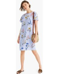 2b08a6a0682e0a J.Crew Collection Silk Twill Shirtdress In Roaming Tiger Print in ...