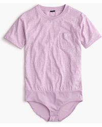 J.Crew Pocket T-shirt Bodysuit - Multicolor