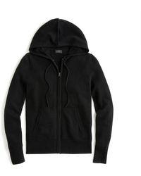 J.Crew Everyday Cashmere Zip-front Hoodie - Black