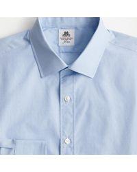 Thomas Mason Ludlow Slim-fit Cotton Shirt In Dobby - Blue