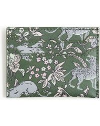 J.Crew - Card Case In Tiger Floral - Lyst