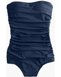 J.Crew - Ruched Bandeau One-piece Swimsuit - Lyst