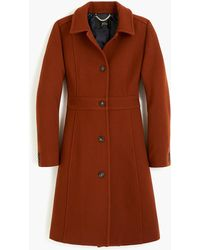 J.Crew Classic Lady Day Coat In Italian Double-cloth Wool With Thinsulate - Brown