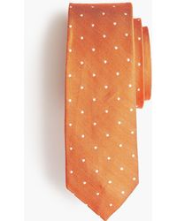 J.Crew - Silk-linen Tie In Dot Print - Lyst