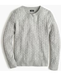 J.Crew - Cable Crewneck Jumper In Everyday Cashmere - Lyst