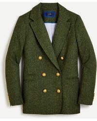J.Crew Double-breasted Blazer In Herringbone English Wool - Green