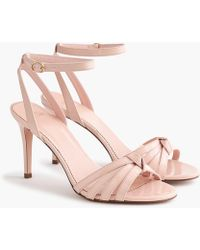 J.Crew Riley Sandals In Sunwashed Pink Patent Leather