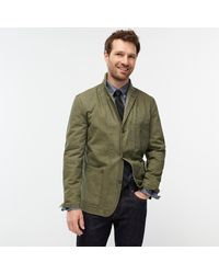 J.Crew Wallace & Barnes Slim-fit Chore Blazer In Italian Ripstop Cotton - Green