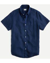 J.Crew - Short-sleeve Baird Mcnutt Irish Linen Shirt - Lyst