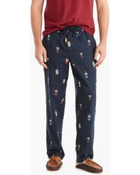 J.Crew - Flannel Pajama Pant In Nutcracker Critter - Lyst