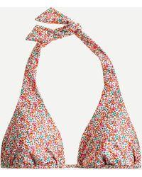 Liberty Halter Bikini Top In ® Eloise Floral - Pink