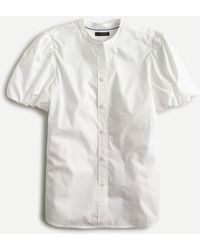 J.Crew Classic-fit Short Puff-sleeve Shirt - White