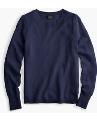J.Crew Cashmere Crewneck Sweater - Blue